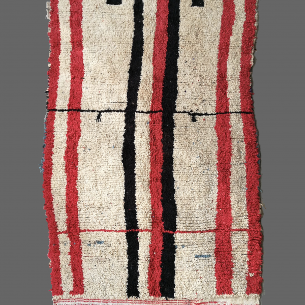 tapis azilal rouge noir