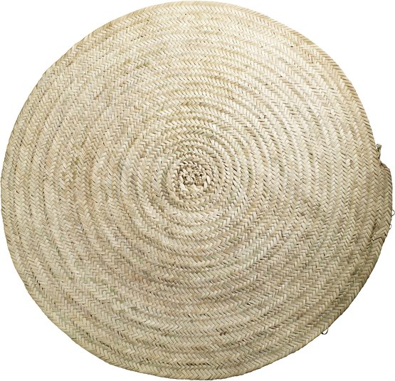 tapis rond feuille palmier