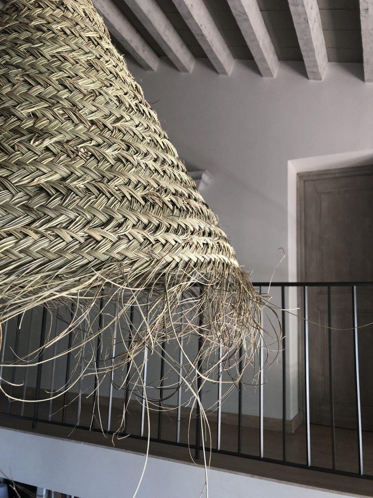suspension L feuille de palmier