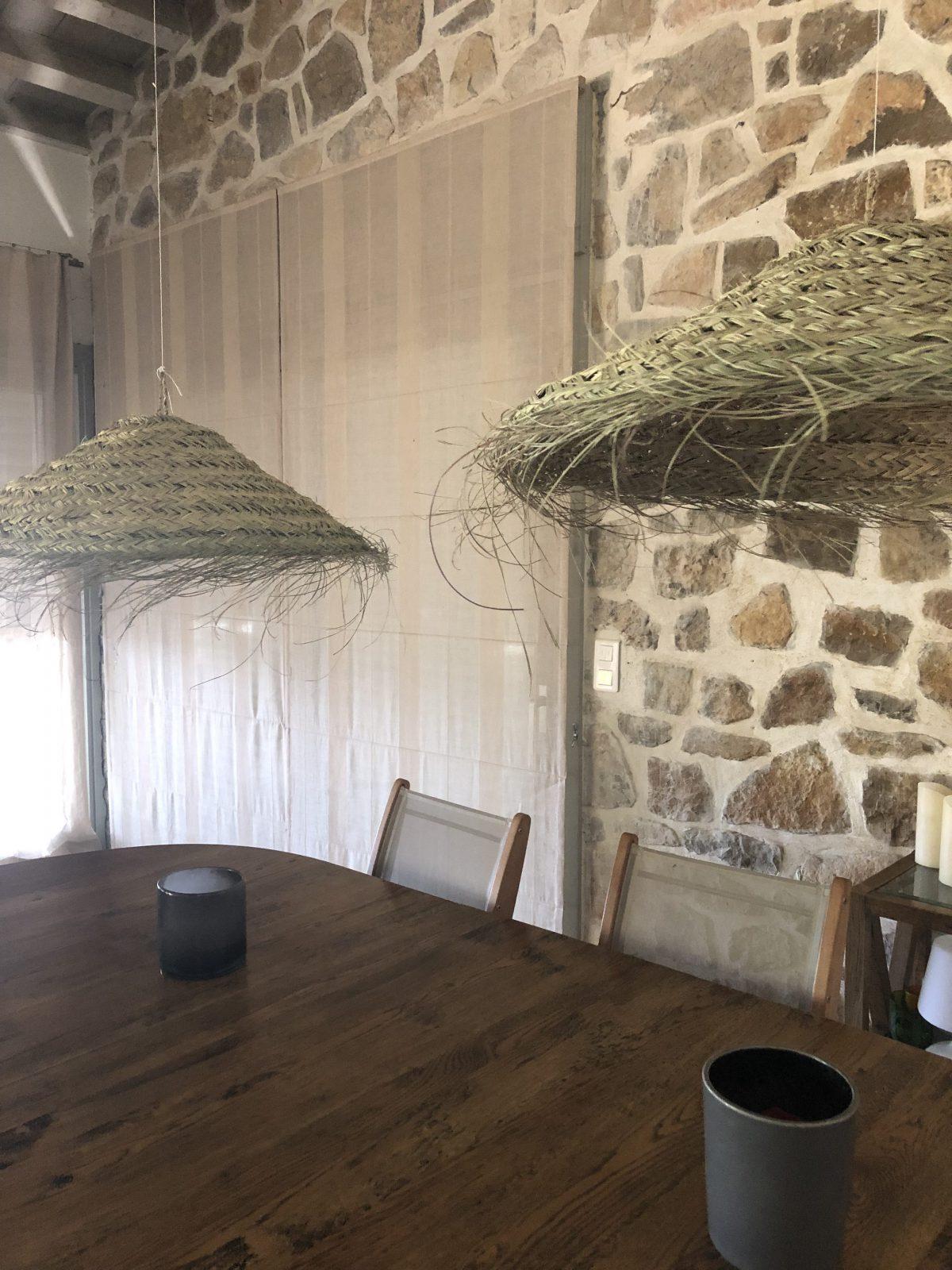 suspension capeline feuille de palmier