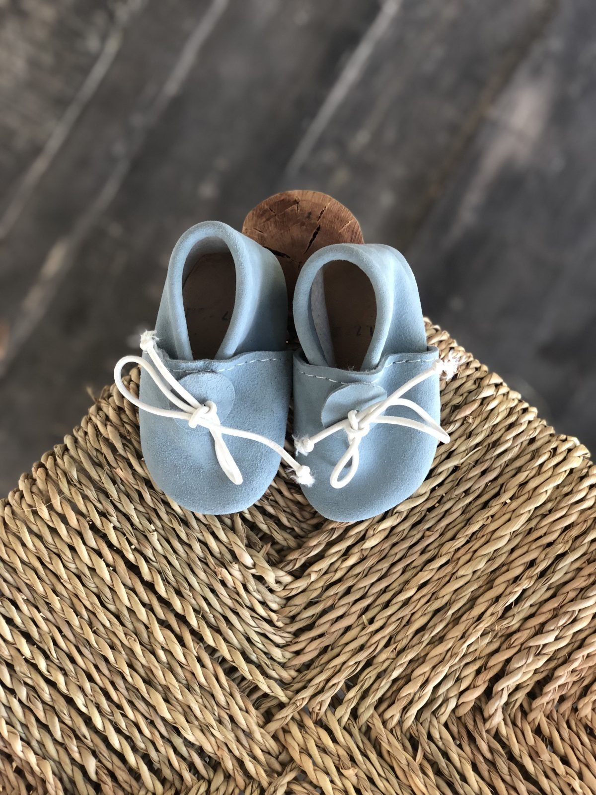 mini babouche bleu