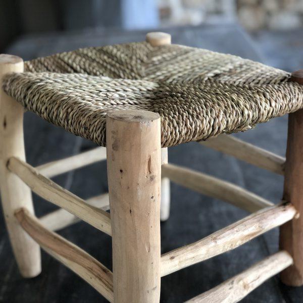 tabouret bois corde