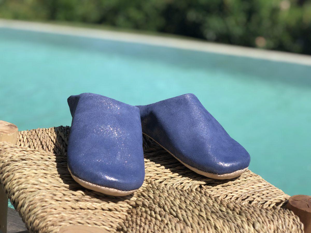 babouche bleu navy