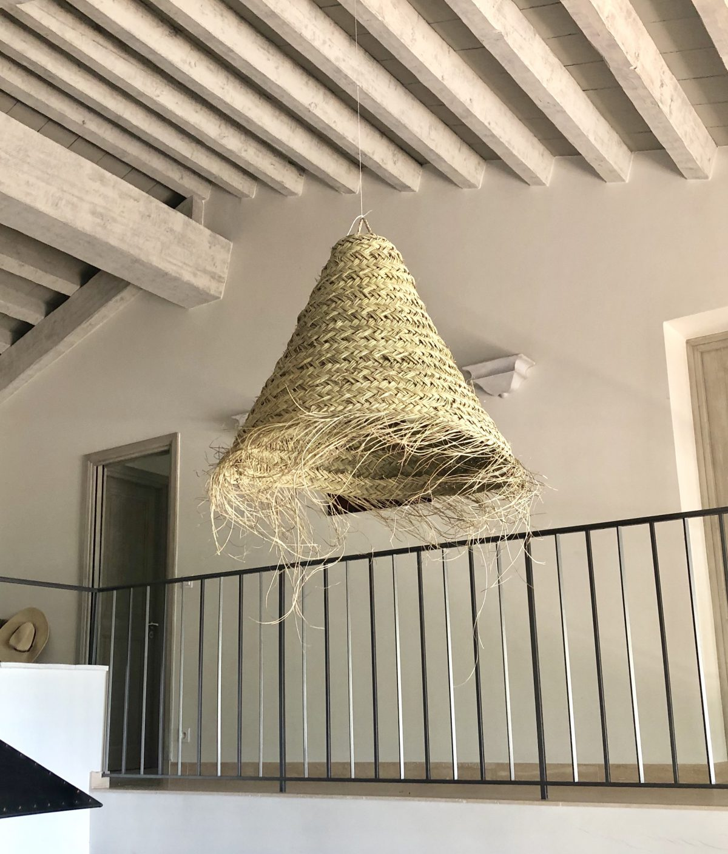 suspension m feuille de palmier