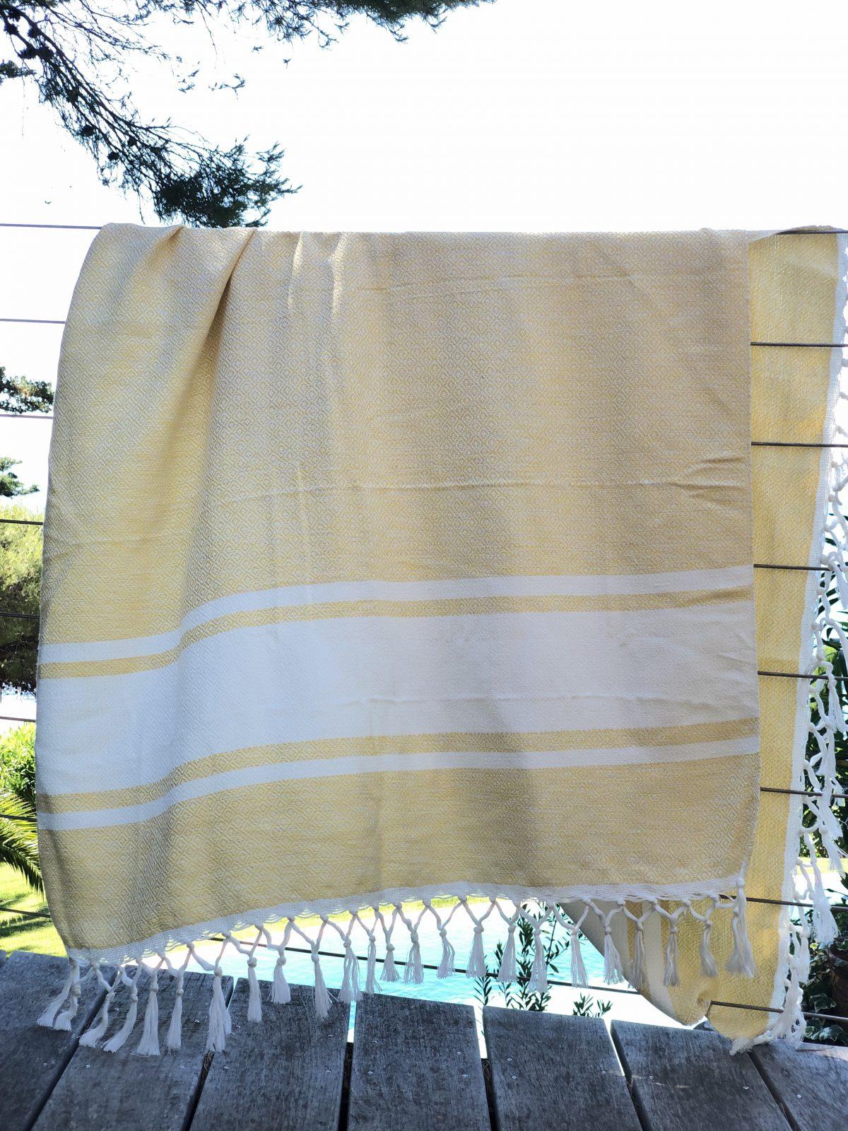 fouta coton jaune