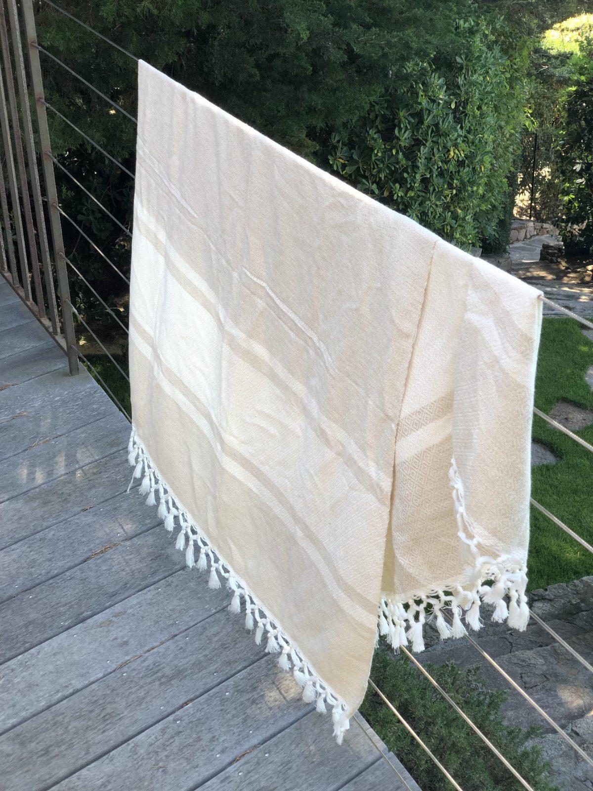 fouta coton beige