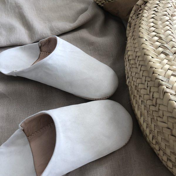 babouche blanche