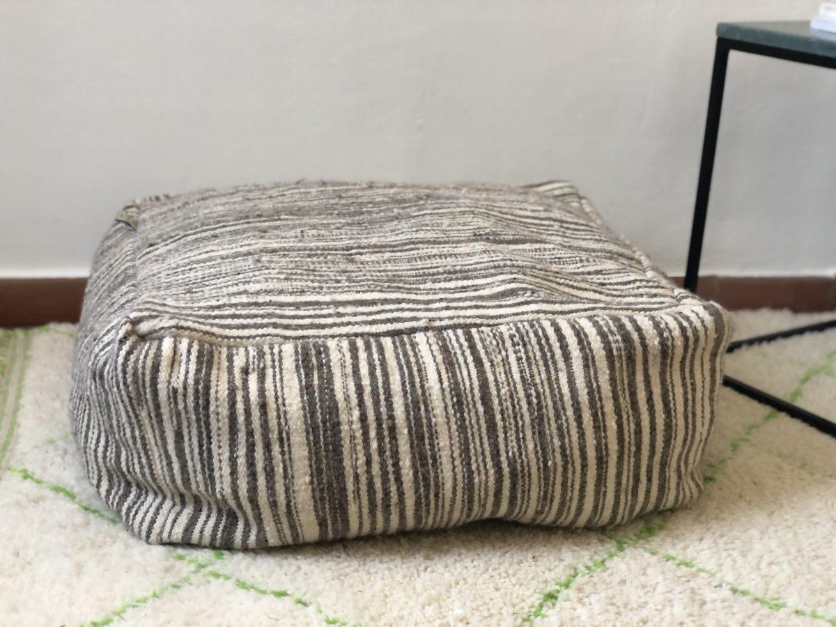 pouf laine