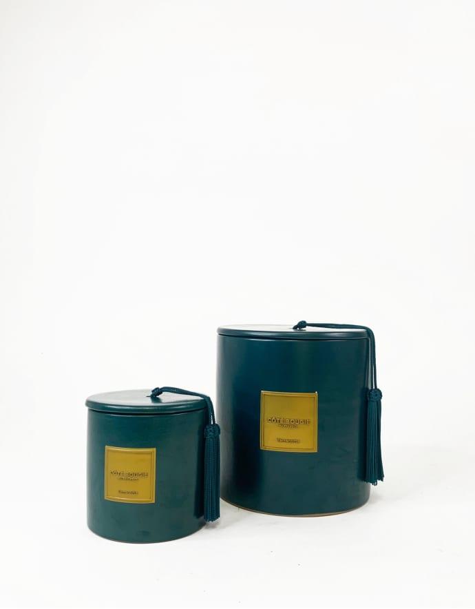 bougie-ceramique-bleu-paon-m