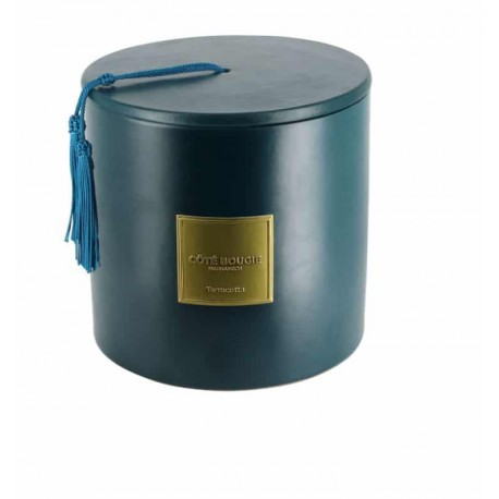 bougie-ceramique-bleu-paon
